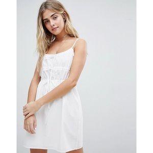 White Cami Ties Sun Dress